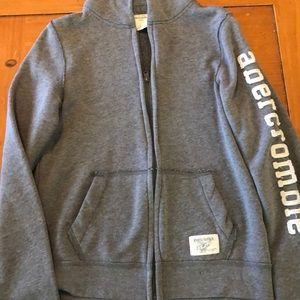 Abercrombie Boys Grey Hoodie Size L